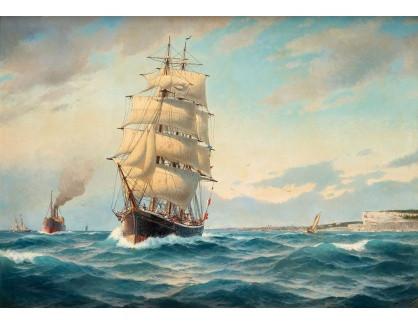 Slavné obrazy IX DDSO-720 Jacob Hägg - Švédská plachetnice mimo přístav