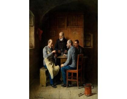 Slavné obrazy XVII-179 Friedrich Friedlander - Nápoj veteránů