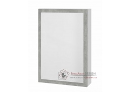 HOLLY, zrcadlová skříňka, bílá / šedý mramor