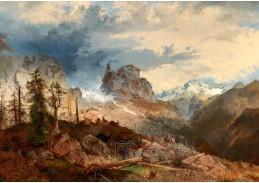 D-9583 Michael Sachs - Divoká vysokohorská krajina s kamzíky