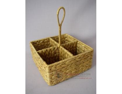 Košík dělený vodní hyacint