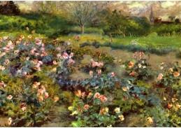 VR14-17 Pierre-Auguste Renoir - Růže v zahradě