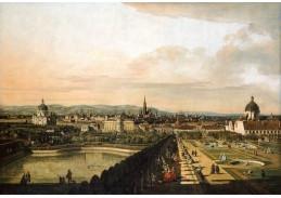 Slavné obrazy XI-116 Canaletto - Vídeň pohledu z paláce Belvedere