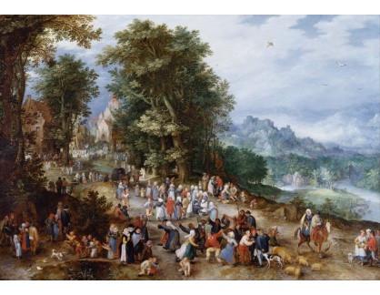 Slavné obrazy XIV-6 Jan Brueghel - Vlámský trh