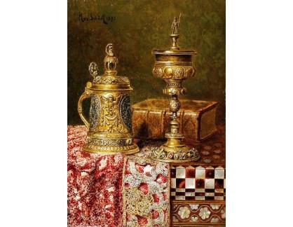 Krásné obrazy II-418 Max Schödl - Zátiší se slavnostními poháry