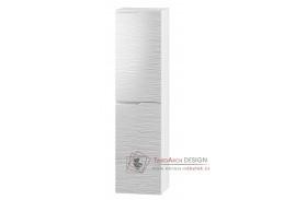 NARAN, koupelnová skříňka závěsná W35SLP - pravá, bílá / bílý lesk vzor