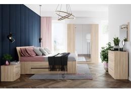 KARO, sestava nábytku do ložnice, dub sonoma