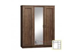 TEDY T05, šatní skříň s policemi 135cm, dub lefkas