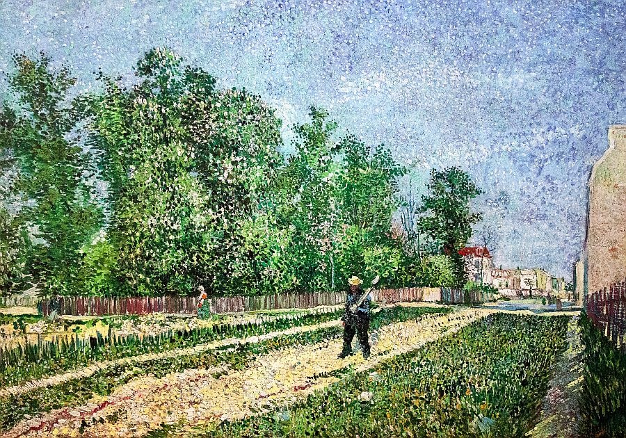 R2-1020 Vincent van Gogh - Cesta na okraji Paříže a muž s lopatou
