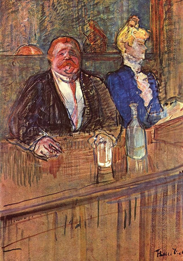 R7-121 Henri Toulose-Lautrec - V kavárně