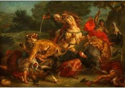 VEF 08 Eugene Ferdinand Victor Delacroix - Na lovu lva