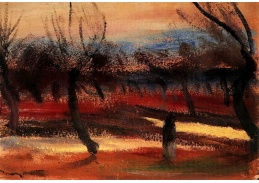 Slavné obrazy VI-119 János Tornyai - Podzimní krajina