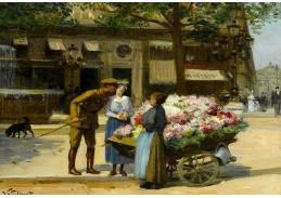 Slavné obrazy IX 77 Victor Gabriel Gilbert - Květiny z lásky