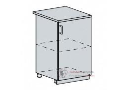 PROVENCE, dolní skříňka 1-dveřová 50D, bílá / vanilka