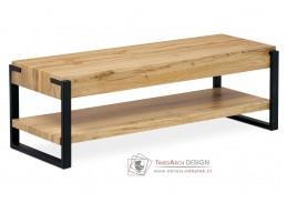 AHG-252 OAK, televiní stolek, černá / divoký dub