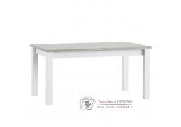LIONA LM88, jídelní stůl rozkládací, bílá