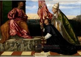 Tizian - Biskup Paphos, představující se s papežem Alexandrem VI svatému Petrovi