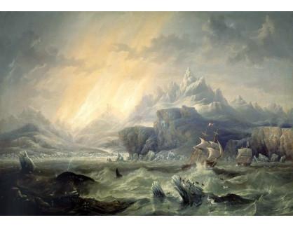 VANG185 John Wilson Carmichael - Plachetnice Erebus a Terror v Antarktidě