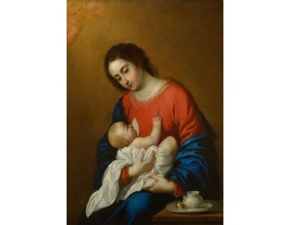 Slavné obrazy XVII-96 Francisco de Goya - Madonna a dítě