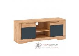 FIDEL B, televizní stolek, dub craft zlatý / grafit šedá