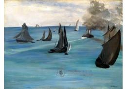 D-8132 Édouard Manet - Parník opouštějící Boulogne