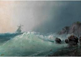 DDSO-1125 Ivan Konstantinovič Ajvazovskij - Plachetnice v bouřlivém moři