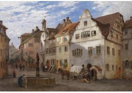 Slavné obrazy XIII-135 Georg Dehn - Cesta městem