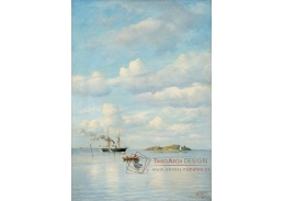 Krásné obrazy V-100 Oscar Kleineh - Další den na moři