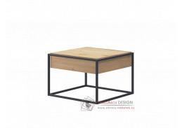 SPRING, konferenční stolek EL60, černá / dub artisan