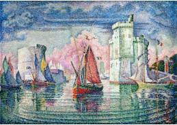 DDSO-4091 Paul Signac - Vstup do přístavu La Rochelle