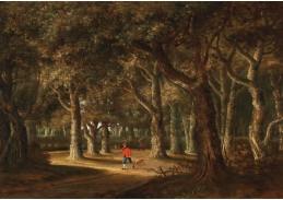 D-5909 Jan Looten - Lesní krajina s lovcem