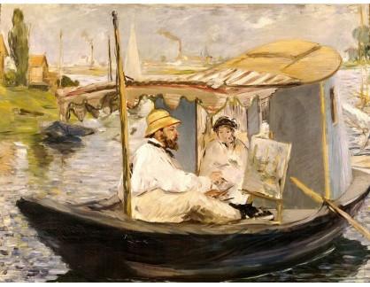 VCM 125 Claude Monet - Na loďce v Argenteuil