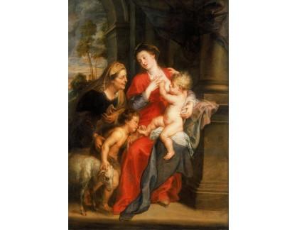 VRU228 Peter Paul Rubens - Madonna a dítě se svatou Elžbětou a Janem Křtitelem