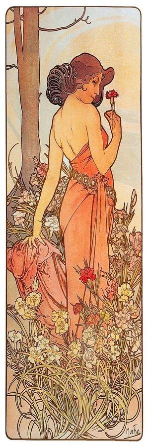 Obraz VAM-111 Alfons Mucha - Carnation