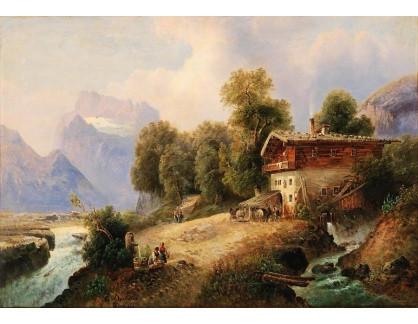 Slavné obrazy III-DDSO-564 Emil Barbarini - Poblíže Berchtesgadenu