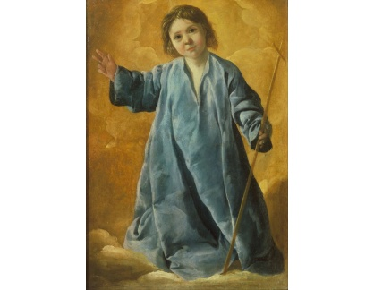 Slavné obrazy XVII-101 Francisco de Zurbaran - Dítě Kristus