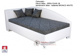 ANDREW, postel 110x200cm, pevně načalouněná matrace
