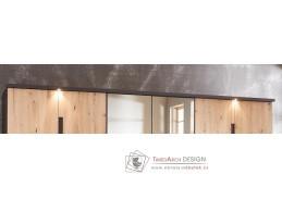 KOLOMAN 610, dekorační lišta skříně s osvětlením 300cm, grafit