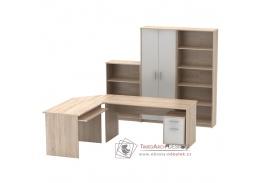 JOHAN 2 NEW, kancelářská sestava nábytku, dub sonoma / bílá