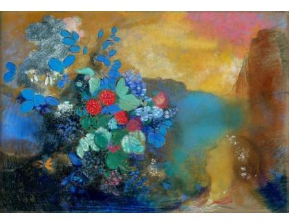 DDSO-4065 Odilon Redon - Ophelia mezi květinami