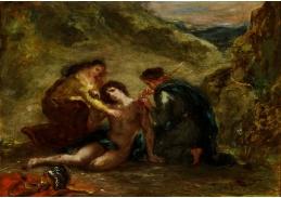 D-7164 Eugene Delacroix - Svatý Sebastian a svatá Irena