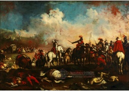 Slavné obrazy III-DDSO-469 Antonio Calza - Po bitvě