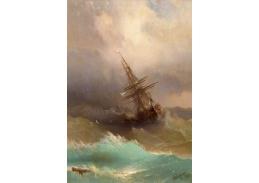 SO VII-133 Ivan Konstantinovič Aivazovsky - Loď na rozbouřeném moři