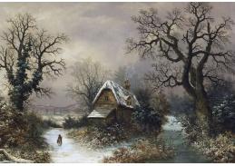 Slavné obrazy IX 131 Neznámý autor - V zimní krajině