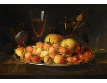 Krásné obrazy IV-18 Jakob Bogdány - Zátiší s jahodami