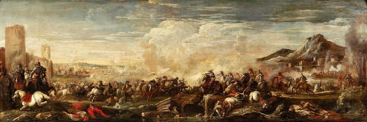 Obraz panorama DDSO-2432 Antonio Calza - Bitevní scéna