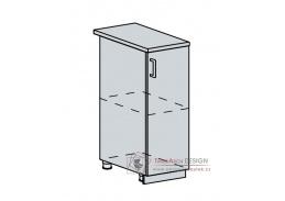 ANASTASIA, dolní skříňka 1-dveřová 30D, bílá / bříza