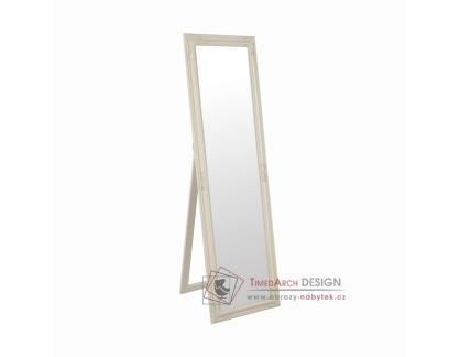 MALKIA 12, zrcadlo stojací, dřevěný rám smetanové barvy