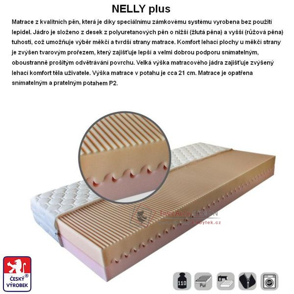 Matrace NELLY PLUS 120x200