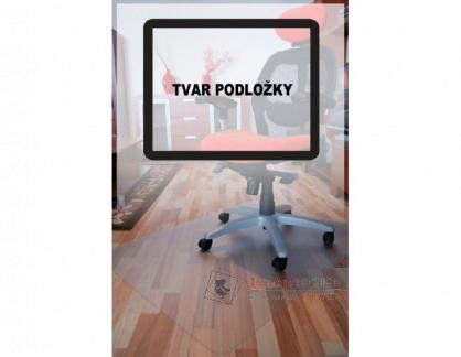 PC podložka pod židli hladká, 240x120 cm, tvar O, čirá